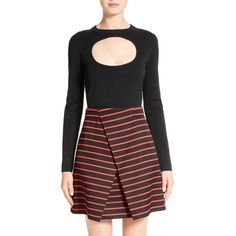 Women's Proenza Schouler Cutout Crop Top (€750) ❤ liked on Polyvore featuring tops, black, sweater pullover, cut-out tops, crop pullover, pullover top and proenza schouler top