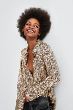 69e5291f8cf8 Klara Leopard Print Long Sleeve Wrap Dress in 2019 | Gömlek. Osman ...