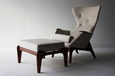 Craft Associates ™ Lounge chaise et Craft Associates ™ Ottoman 1406