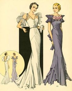 [It wouldn't have done for a wedding gown back then, I'm guessing, since the shoulders aren't covered, but it would be great now--and right in line with some recent fashions I've seen, with jewels as part of the gown.  Late 20's, early 30's maybe?]  https://www.flickr.com/photos/22864665@N06/14370725030/