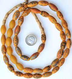 Rare antique Venetian 'Dutch' trade beads with yellow base.