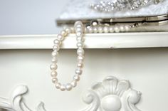 Real Freshwater Pearl Handle by EllenVintage on Etsy, $23.00