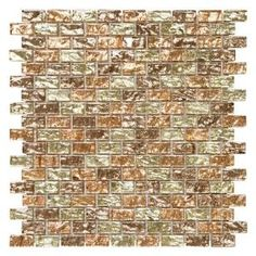 Jeffrey Court, Infusion 11-7/8 in. x 12 in. x 8 mm Glass Brick Mosaic Wall Tile, 99793 at The Home Depot - Mobile