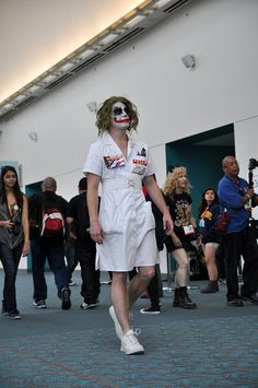 Legit scary nurse Joker at SDCC 2012 by AaronBerkovich, via Flickr