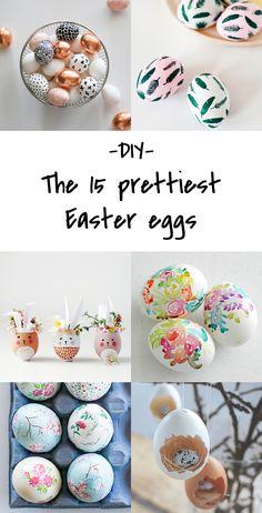 DIY Easter eggs decor