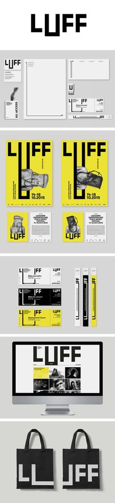 More corporate-designs are collected on: https://pinterest.com/rothenhaeusler/best-of-corporate-design/ · Agency: Lionel Melchiorre · Client: Lausanne Underground Film & Music Festival #branding #identity #corporatedesign
