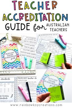 Wondering where to start with your Australian teacher accreditation? This document is the help you need! Full of checklists, easy to understand information, and evidence examples to get you started. AITSL aligned and suitable for Aussie Teachers. #rainbowskycreations Rainbow Sky, Australian Curriculum, New Teachers, Teacher Hacks, Wild Child, Classroom Organization, Getting Organized, Assessment, Teaching Resources