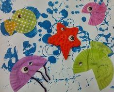 Cedida per Núria Laspeñas. Tapas, Preschool At Home, Preschool Crafts, Art For Kids, Crafts For Kids, Arts And Crafts, Soft Towels, Article Design, Ocean Themes