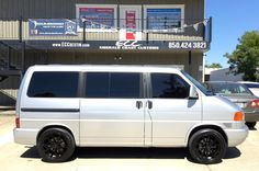 "Volkswagen Eurovan (European Edition) w/ New KMC Wheels/TOYO Tires & Cross Drilled/Slotted Aftermarket Brake Setup, New CT Sounds System w/ All New Speakers, Subs & Amps, InDash w/ IPhone Mirroring, 15"" Flipdown Monitor w/ DVD System, & LED Headlights #destin #kmcwheels #toyo #30a #rosemarybeach #seaside #12volt #ecc #emeraldcoast #southwaltonbeaches #eurovan #ctsounds #vweurovan #emeraldcoastcustoms #seagrovebeach #santarosabeach #vanlife #modifiedvans"