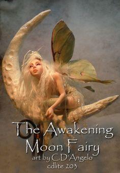 Dark Moon Fairy | ... angelo dimichele the awakening moon fairy polymer clay sculpture ooak