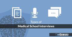 Types of Medical School Interviews from InGenius prep