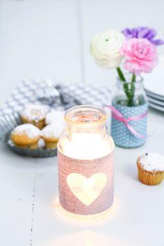 Januarlicht. DIY | candle light by http://titatoni.blogspot.de/