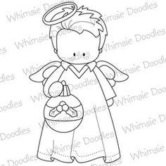 Christmas digital stamp angel