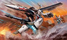 Amazing Box Art of 1/72 plamo Hasegawa VF-1J/A Valkyrie Gerwalk Mode, Info Release http://www.gunjap.net/site/?p=215385