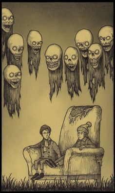 Wonderfully creepy monsters by Don Kenn (drawn entirely on post-its)
