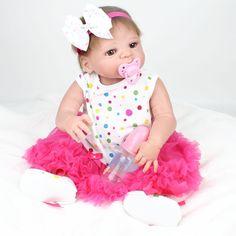 "92.95$  Buy here - http://aliq72.shopchina.info/go.php?t=32807302702 - ""NPK Reborn Baby Dolls 22""""55cm Full Silicone Vinyl Body Kid Playmate Newborn Simulation Photo Props Brinquedos Bonecas Bebe Gifts"" 92.95$ #buyonline"