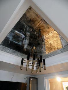 Зеркальный потолок, зеркальная плитка