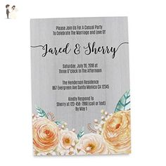 Rustic Elopement Announcement Card, Marriage rustic announcement cards, Wedding Announcement Card - Wedding party invitations (*Amazon Partner-Link)