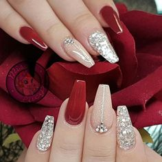 The Deep Winter Nail Art Designs are so perfect for Hope they can inspire . - The Deep Winter Nail Art Designs are so perfect for Hope they can inspire you and read the ar - Sexy Nails, Cute Nails, Pretty Nails, Sexy Nail Art, Classy Nails, Red Acrylic Nails, Pink Nails, Red Ombre Nails, Red Gel Nails
