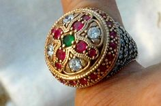 vintage runway harem ring ottoman sterling by FrenchFrouFrou, $225.00