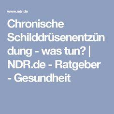 Chronische Schilddrüsenentzündung - was tun?   NDR.de - Ratgeber - Gesundheit