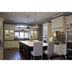 Kitchen Court on Instagram: Here's a beautiful timeless white transitional kitchen with a...