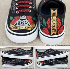 Hand-painted Fall Out Boy shoes by The Informed Artist (click image for tutorial)
