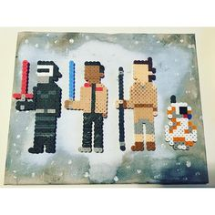 Star Wars VII perler beads by saboooom