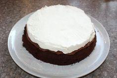 Čokoládová torta s mascarpone a ovocím - recept postup 8 Tiramisu, Food And Drink, Cake, Desserts, Mascarpone, Pie Cake, Tailgate Desserts, Pastel, Dessert