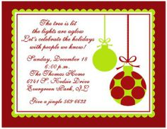 Holiday Christmas Polka Dot Stripe Whimsical Tree Party Open House ...