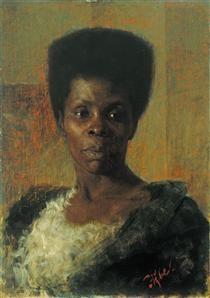 Zamorka (Black Girl) - Anton Azbe