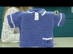 Vida com Arte | Camisa marinheiro em crochê por Denise Lopes - 06 de abr...