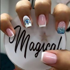 Cute Gel Nails, Love Nails, My Nails, Bridal Nails Designs, Nail Art Designs, Semi Permanente, Diy Barbie Furniture, Best Acrylic Nails, French Nails