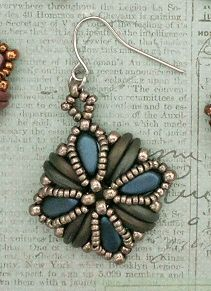 Linda's Crafty Inspirations: Playing with my beads...Tara Earrings with Silky Beads