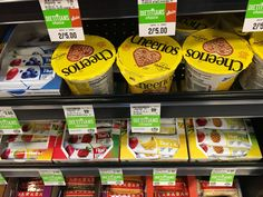 Cheerios cups at checkout make for a quick breakfast or snack on the go. Lara Bars, Made Goods, Dietitian, Ale, Cups, Veggies, Gluten Free, Snacks, Canning