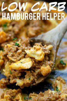Low Carb Hamburger Helper - there's ZERO macaroni in this kid-friendly dinner! Low Carb Hamburger Helper - there's ZERO macaroni in this kid-friendly dinner! Low Carb Hamburger Helper - there's ZERO macaroni in this kid-friendly dinner! Keto Foods, Meat Recipes, Cooking Recipes, Healthy Recipes, Low Carb Hamburger Recipes, Beef Recipe Keto, Dinner Recipes, Easy Cooking, Healthy Cooking