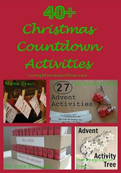 If you're looking for Christmas countdown activities, you'll find 40+ activities here along with links to LOTS AND LOTS more!
