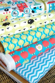 Fat Quarter BundleTaali from Monaluna  Organic by FreshStash, $22.00  Love these patterns for baby room!