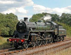 BR Standard Class 4 Locomotive – one of the last steam locomotives working on British Railways By Train, Train Car, Train Tracks, Steam Trains Uk, Old Steam Train, Locomotive Diesel, Steam Locomotive, Heritage Railway, Abandoned Train