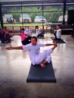 Yoga session at kechara forest retreat