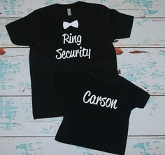 Ring Security Tee TShirt with name. Ring Bearer by BridesDelight, $14.00