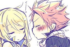 awwww isn't this so cute?? lucy, natsu, fairy tail