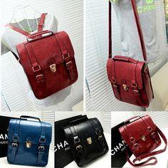 New Womens Fashion School Backpack Faux Leather Bookbag Girls Boys Cute Casual #Handmade #Backpack