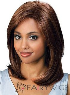 2015 Cool Medium Wavy Brown No Bang African American Lace Wigs for Women 14 Inch Bobbi Boss Hair, Bobbi Boss Wigs, Synthetic Lace Front Wigs, Synthetic Wigs, Medium Length Hair Straight, Beauty Hair Extensions, Best Wigs, Hair Products Online, Short Bob Wigs