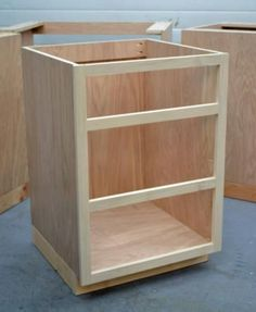 Building base cabinets, cheaper than having them made and installed. I love Ana White! #DIYKitchenRemodel Cabinet Refacing, Cabinet Ideas, Refacing Kitchen Cabinets, Kitchen Cabinet Storage, Cabinet Design, Diy Cabinets, Painting Kitchen Cabinets, Storage Cabinets, Types Of Kitchen Cabinets