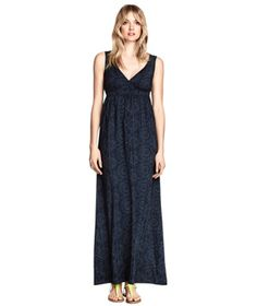 H&M Long Dress: All-over batik print, flattering Empire waist, and easy cut. Its shoulder straps are wide, too, so you can wear your favorite bra underneath with no worries about exposing it inadvertently.