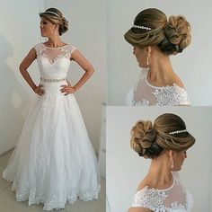 Combo: Hair & dress inspiration for brides-to-be pic via @relicariocasar #bridalinspiration #weddingdress #weddinghair #instapost