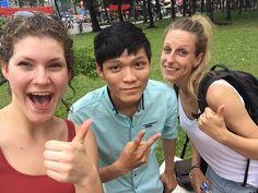 Selfie met onze local gids Tong. Hij heeft ons de stad vanuit een ander oogpunt laten zien