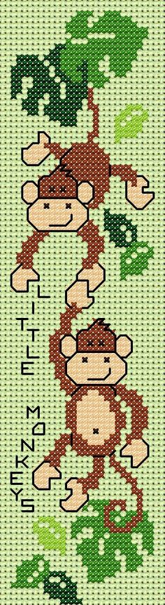 Maria Diaz Designs: Exclusive cross stitch designs, cross stitch charts & cross stitch books little monkeys free for August 2014