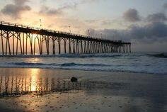 Sunrise At the Pier  8 x 10 by sapCreations on Etsy
